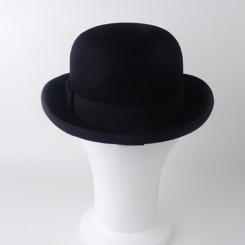 Antikcostume chapeau melon en feutre noir made in france - Tableau chapeau melon pomme verte ...